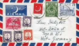 PAKISTAN 1959 - 8 Fach Frankierung Auf LP-Brief Gel.v.Pakistan Nach West-Berlin - Pakistan