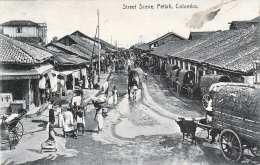 COLOMBO - Pettha, Street Scene, Gel.1923, 10? Marke, Nachportostempel - Sri Lanka (Ceylon)
