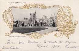 Goldprägelitho TORONTO - University College, Ungelaufen Um 1900, Klebespuren Auf Rückseite - Toronto