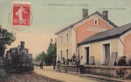 Dépt 37 - MANTHELAN - La Gare - Animée - Rarissime ! - - France