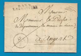 Maine Et Loire - Les Rosiers Pour Angers - LAC En Port Payé. 1828. Indice 16 = Cote 170e - Marcophilie (Lettres)