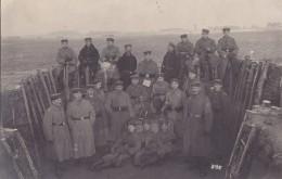 Foto Deutsche Soldaten 1.Weltkrieg Leichter Minenwerfer Mine Thrower  Granatwerfer Pristerwerfer Schützengraben - Guerre, Militaire