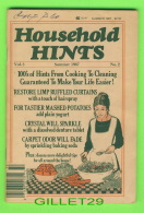 BOOKS - HOUSEHOLD HINTS VOL 5 SUMMER 1987 No 2 - 100 PAGES - - Cooking, Food, Wine