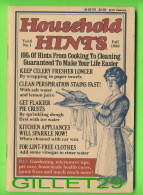 BOOKS - HOUSEHOLD HINTS, 100s Of Hints From Cooking To Cleaning - VOL 6 FALL 1988 No 1 - 100 PAGES - - Cuisine, Plats Et Vins