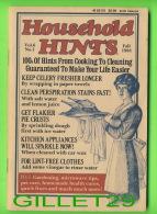 BOOKS - HOUSEHOLD HINTS, 100s Of Hints From Cooking To Cleaning - VOL 6 FALL 1988 No 1 - 100 PAGES - - Keuken, Gerechten En Wijnen