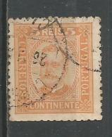 5r Jaune Orange Yt 66 - 1892-1898 : D.Carlos I