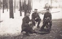 Foto Deutsche Soldaten 1.Weltkrieg Mittlerer Minenwerfer Mine Thrower Granatwerfer Schützengraben Nitrolit Leverkusen - Guerre, Militaire