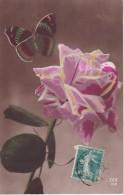 AK Rose Und Schmetterling - 1916 (22954) - Blumen