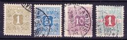 Denmark Verrechnungsmarken 1907 Mi. 1-2X, 4X, 8X AVISPORTO  MÆRKE Cote 19,50 € (2 Scans) - Port Dû (Taxe)