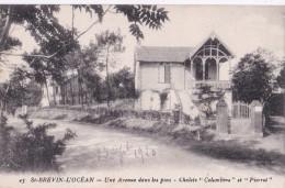 """Carte 1920 ST BREVIN L'OCEAN / UNE AVENUE DANS LES PINS - CHALETS """"COLOMBINE"""" ET PIERROT (villa) - Saint-Brevin-l'Océan"""