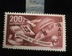 1950  SAAR 200F Europarat  Conseil De L´Europe  PA13   Mi 298 Propre Charnière* - 1947-56 Allierte Besetzung