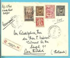 339+341+384+388+398 Op Brief Aangetekend Met Stempel BRUXELLES Naar Nederland - 1931-1934 Képi