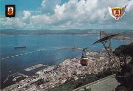 GIBRALTAR : View Of Town And Harbour With Cable Car Station / Vue Sur La Ville Et Le Port Depuis La Gare Du Téléphérique - Gibraltar