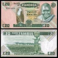 ZAMBIE Zambia 20 KWACHA Sign 6 ND (1980-88) P 27d UNC - Zambia