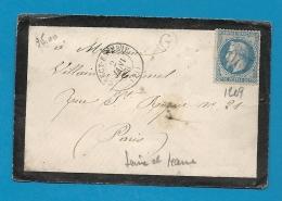 Seine Et Marne - CRECY EN BRIE Pour PARIS. GC + CàD Type 15 - Marcophilie (Lettres)