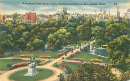 BOSTON - Aeroplane View Of The Public Gardens And Beacon Hill - Boston