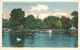 BOSTON - Lake In Public Garden - Boston