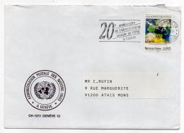 NATIONS-UNIES-Office Genève--Lettre De Genève Pour ATHIS-MONS-91-France-tp Nations-Unies-cachet 20° Anniversaire - Office De Genève