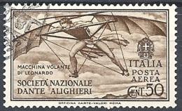 Italia, 1932 Società Dante Alighieri 50c Bruno  # USATO - 1900-44 Vittorio Emanuele III