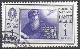 Italia, 1932 Società Dante Alighieri 1L Violetto  # USATO - 1900-44 Vittorio Emanuele III