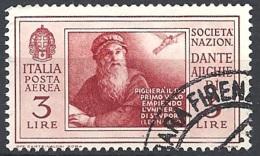 Italia, 1932 Società Dante Alighieri 3L Rosso Bruno  # USATO - 1900-44 Vittorio Emanuele III