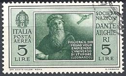 Italia, 1932 Società Dante Alighieri 5L Verde  # USATO - 1900-44 Vittorio Emanuele III