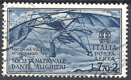 Italia, 1932 Società Dante Alighieri 7.70 Azzurro Scuro  # USATO - 1900-44 Vittorio Emanuele III