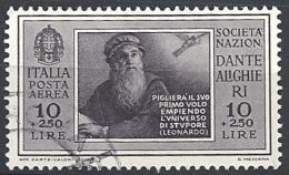 Italia, 1932 Società Dante Alighieri  10L Bruno Nero  # USATO - 1900-44 Vittorio Emanuele III