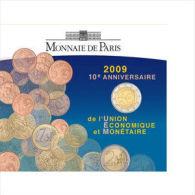 """France 2009 : 2€ Commémorative BU """"10 Ans De L´ Union Economique Et Monétaire"""" - Francia"""