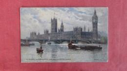 Tucks Canvas Type  House Of Parliament & Westminster Bridge==== Ref 2220 - Non Classés