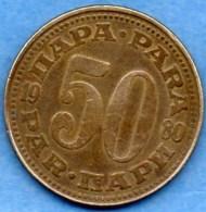 A/  YOUGOSLAVIE / YUGOSLAVIA  50  Para  1980  KM 46.2 - Yougoslavie