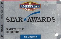 Ameristar Casino St. Charles, MO - Slot Card - Copyright 2002 - Casino Cards