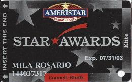 Ameristar Casino Council Bluffs, IA - Slot Card - Copyright 2002 - Casino Cards