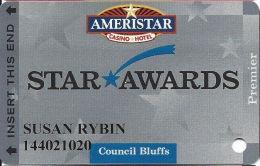 Ameristar Casino Council Bluffs, IA - Slot Card - Copyright 2002 - Cartes De Casino