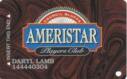 Ameristar Casino Council Bluffs, IA - Slot Card - CPI 2001181 Over Mag Stripe - Cartes De Casino
