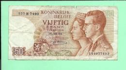 BILLET 50 Francs 16-05-1966 , Couple Royal - [ 2] 1831-... : Belgian Kingdom