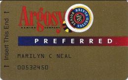 Argosy Casinos - Slot Card With Signature Stripe & Senior Sticker - Casino Cards
