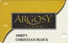 Argosy Casino Riverside, MO - Slot Card - INNNOVATIVE Over Mag Stripe - Casino Cards