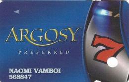 Argosy Casino - Slot Card - No Text Over Mag Stripe - Casino Cards