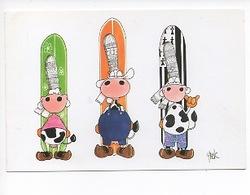 Bretagne : Dessin De Yack (illlustrateurs) Vaches Bretonnes Coiffes Folklore Humour (éd Self) - Bretagne