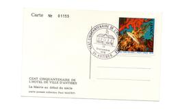 150 ANS DE L'HOTEL DE VILLE DE ANTIBES 1978 - Marcophilie (Lettres)