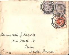 Enveloppe -  Cachet Au Depart De  NEWPORT  ( Rhode Island ) Etats Unis - à Destination  De  TARBES ( 65 ) Timbres  Per - Amérique Centrale