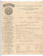 G-I-E , Facture , 1890, Eugéne WELLS , POITIERS , Machines à Vapeur , Moulins ... - 1800 – 1899
