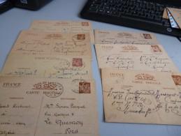 8 ENTIERS POSTAUX TYPES IRIS EN PROVENANCE DU MAROC ET ALGERIE EN 1941 - Postal Stamped Stationery