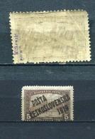 Tschecheslowakei 136 Falz 2 X Gepr, #dx351 - Abarten Und Kuriositäten