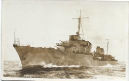 """Photographie-Carte Postale/Marine Militaire Française/""""Le KERSAINT""""/Contre-torpilleur? / Vers 1930-1950      MAR14 - Barche"""