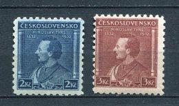 Tschecheslowakei 316-7 Xx #dx356 - Abarten Und Kuriositäten