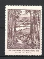 Vignette Publicitaire Pisku, Jub. Krajinska Vystava 1912, Vue Générale - Cinderellas