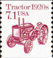 1987 USA Transportation Coil Stamp Tractor Sc#2127 Farm Agriculture History Post - Agriculture