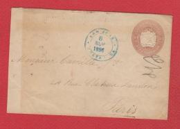 Entier Postal De San José  --  Pour Paris  8 Nov 1896 - Costa Rica